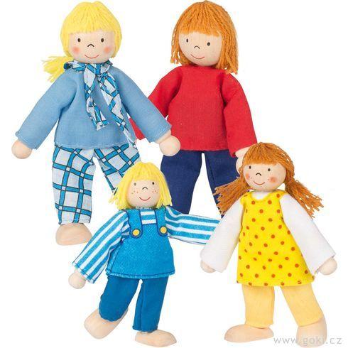 Panenky dodomečku – mladá rodina, 4ks - Goki