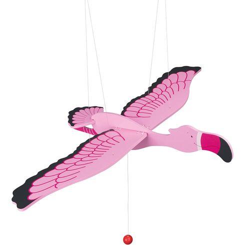 Růžový plameňák – létající závěsná dekorace - Goki