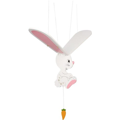 Bílý zajíček – létající závěsná dekorace - Goki