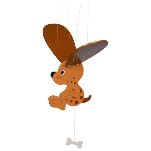 Strakatý pejsek skostičkou – létající závěsná dekorace - Goki