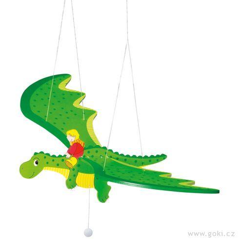 Dřevěný létající drak – létající závěsná dekorace - Goki