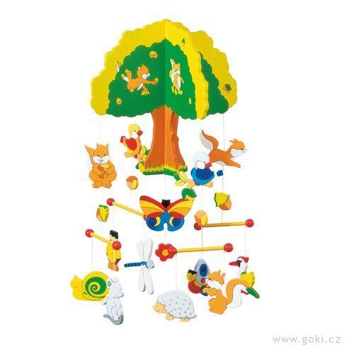 Dřevěný závěsný kolotoč – Strom - Goki