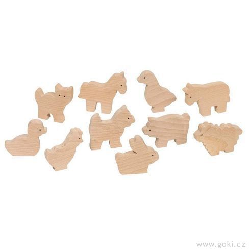 Dřevěná zvířátka kvymalování - Goki