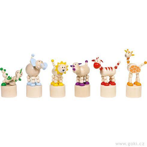Mačkací figurky – zvířátka zAfriky - Goki