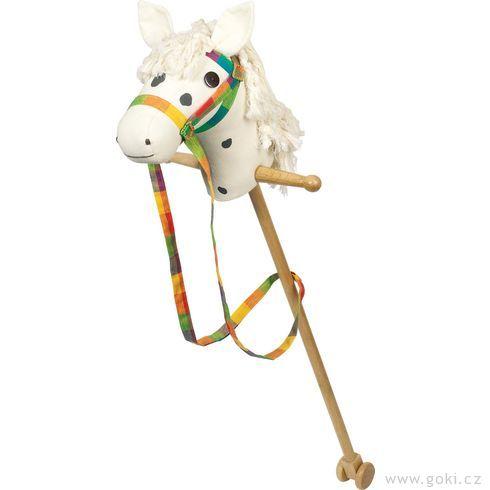 Koňská hlava natyči, bílá - Goki