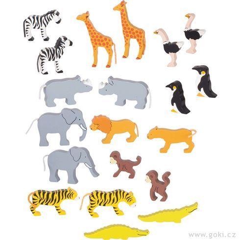 Africká zvířátka, 20dílů - Goki