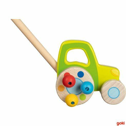 Zelený traktor – hračka natyči - Goki