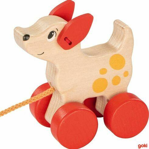 Pejsek –tahací hračka našňůrce - Goki