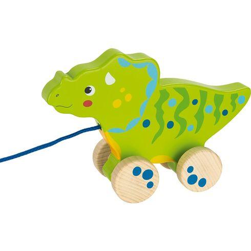 Zelený dinosaurus našňůře - Goki