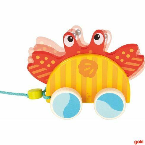 Mořský krab –tahací hračka našňůrce - Goki