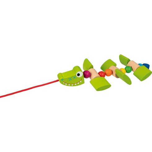 Usměvavý krokodýl – tahací hračka naprovázku - Goki