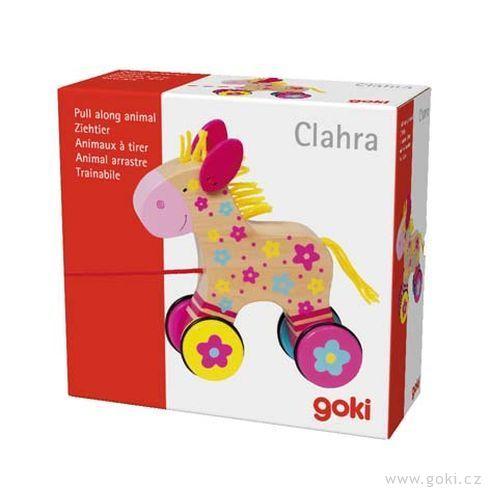 Dřevěná tahací hračka – Koník Clara - Goki