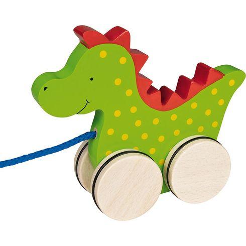 Dřevěná tahací hračka – Dráček Saro - Goki