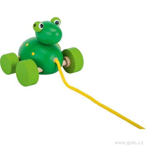 Tahací dřevěná hračka – Žába - Goki