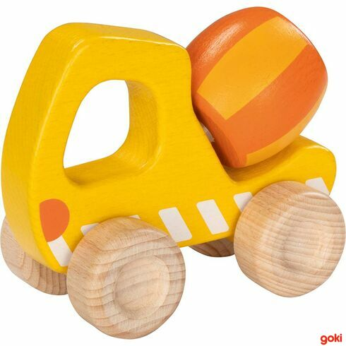 Betonová míchačka –autíčko pronejmenší zedřeva - Goki