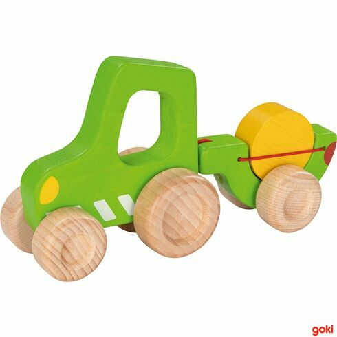 Traktor svlečkou - Goki