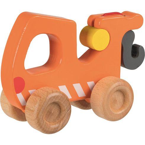 Odtahový vůz – dřevěné autíčko pronejmenší - Goki
