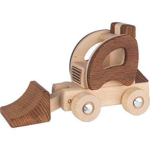 Dřevěný bagr – autíčko pronejmenší - Goki