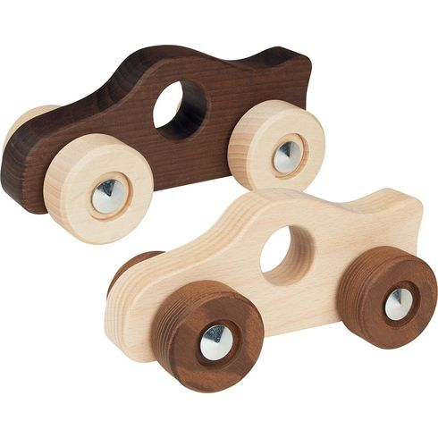Závodnička – autíčko doručky zneošetřeného dřeva, gokinature - Goki