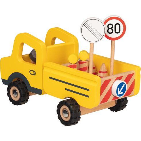 Autíčko zestavby +dopravní značky - Goki