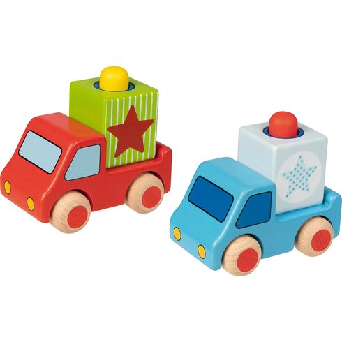 Dřevěné nákladní autíčko shoukačkou - Goki
