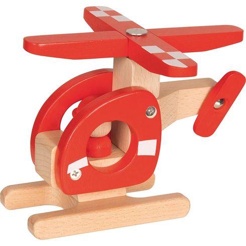 Vrtulník – hračka zedřeva - Goki