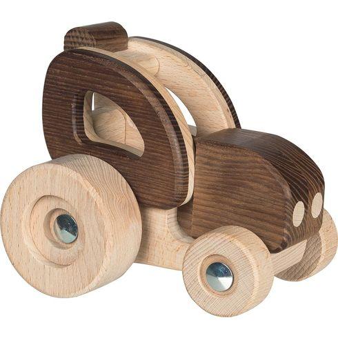 Dřevěný traktor, přírodní dřevo – Goki nature - Goki