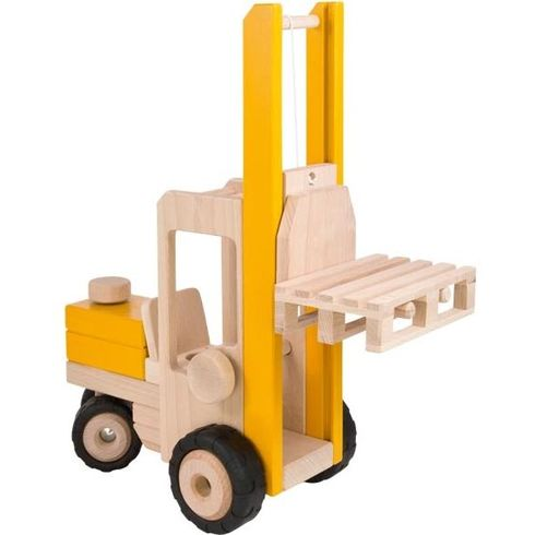 Vysokozdvižný vozík ještěrka, hračka zedřeva - Goki