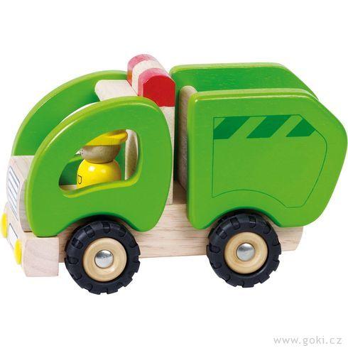 Dřevěné popelářské autíčko - Goki