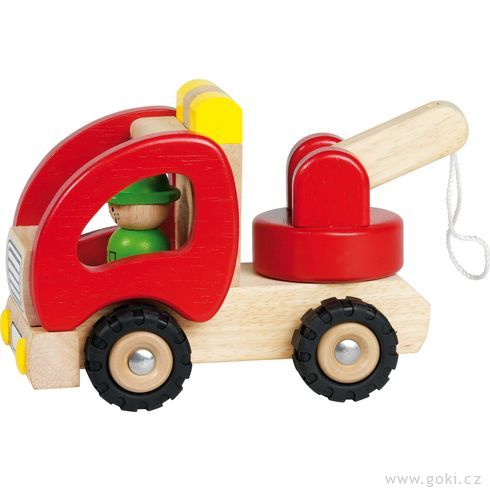 Dřevěné odtahovací autíčko - Goki