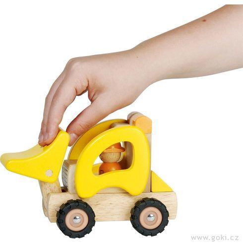 Dřevěné nakládací autíčko - Goki