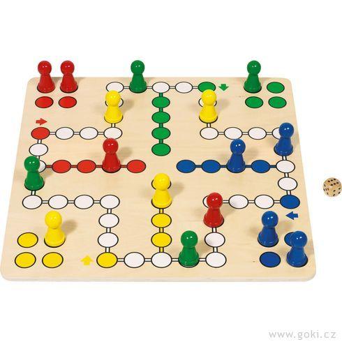 Stolní hra– Člověče, nezlob se,50x50cm - Goki