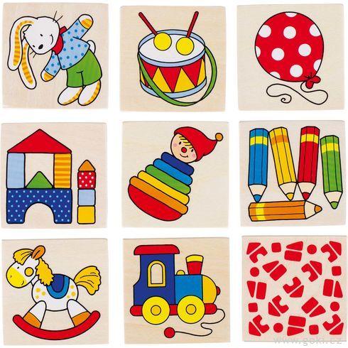 Obrázkové pexeso hračky, 16dílů - Goki