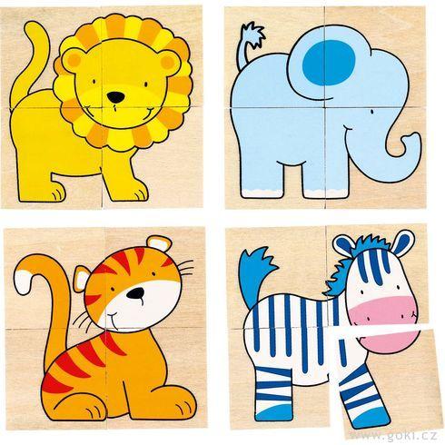 Puzzle apexeso divoká zvířátka - Goki