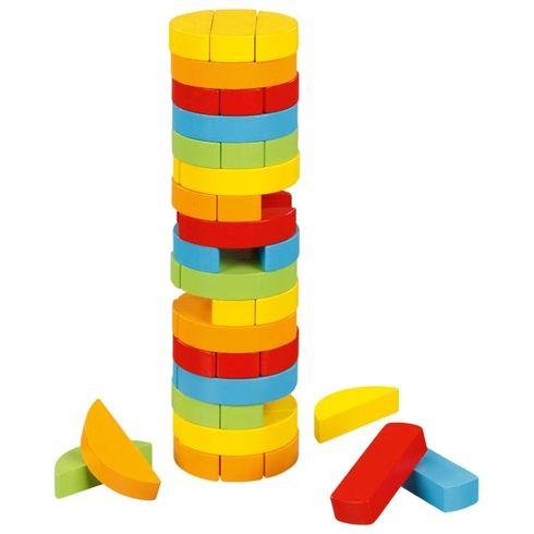 Dovednostní balanční věž Jenga –kulatá, 51dílů - Goki