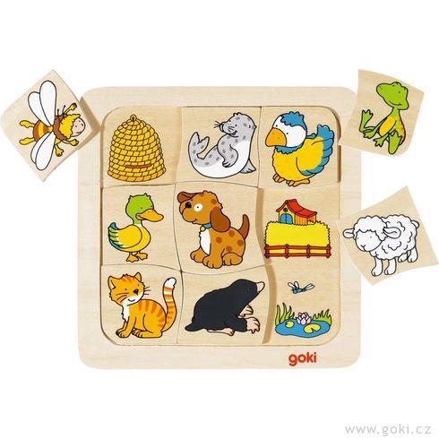Dřevěné puzzle – Kdokdebydlí? - Goki
