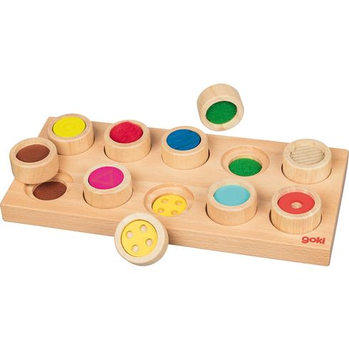 Hmatová hra, 10dílů – didaktická pomůcka - Goki