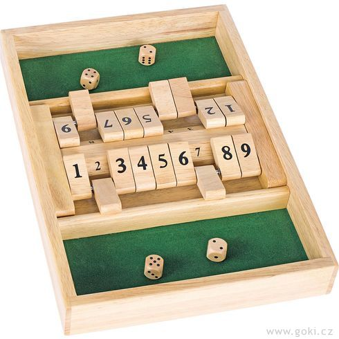 Stolní hra – Shut the box - Goki