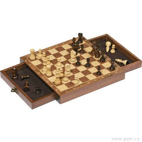 Magnetické šachy, logická hra– 25x25cm - Goki