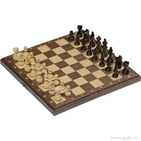 Magnetické šachy, logická hra– 27x27cm - Goki