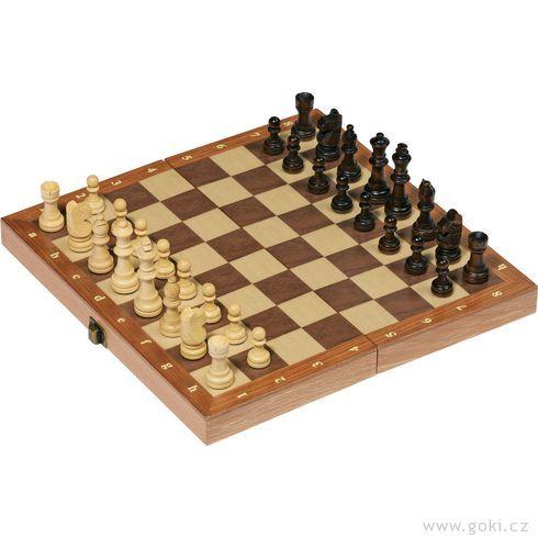 Šachy zedřeva – 30x30cm - Goki