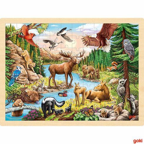 Divočina severní Ameriky –puzzle, 96dílů - Goki