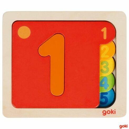 Vícevrstvé puzzle –Čísla - Goki