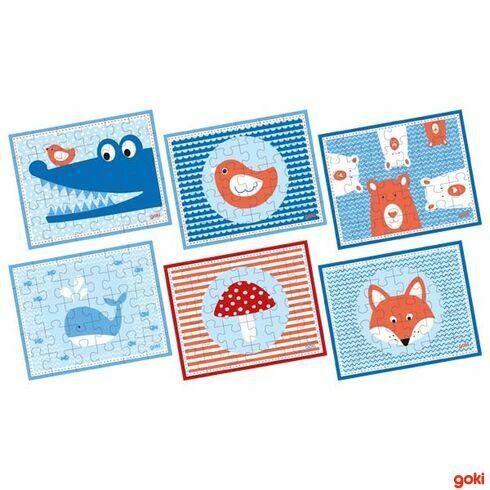 Puzzle mini –krokodýl, velryba…, 30dílů - Goki
