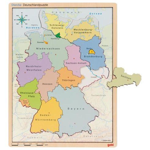 Puzzle vpuzzle – Německo - Goki