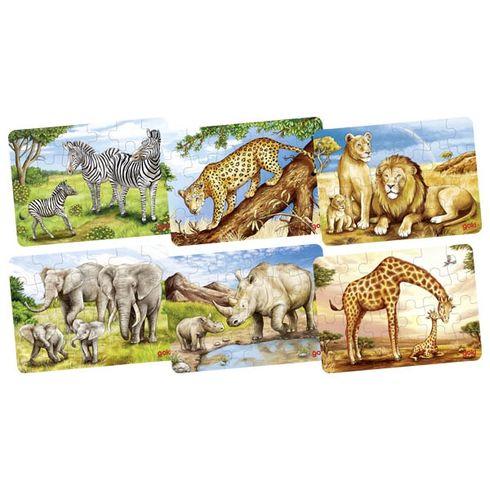 Puzzle mini – africká zvířátka, 24díly - Goki