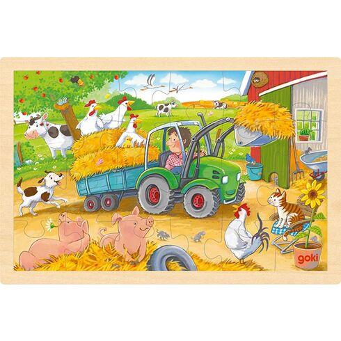 Puzzle traktor, 24díly - Goki