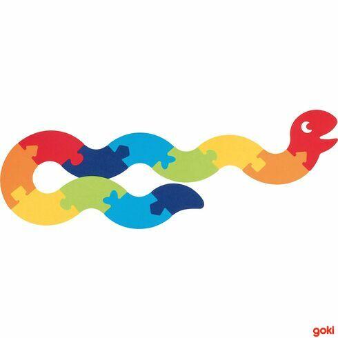 Had–puzzle zfilce, 12dílů - Goki
