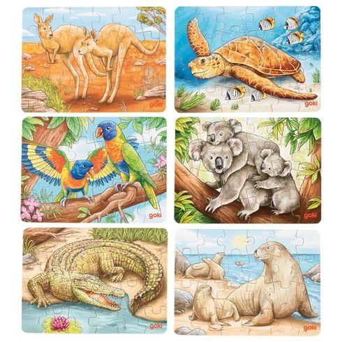 Puzzle mini – Australská zvířátka, 24díly - Goki