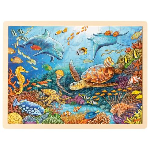 Velký korálový útes – dřevěné puzzle 96dílů - Goki